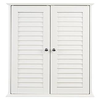 Premier Housewares–Armario de pie, Color Blanco/Madera de baño de tamaño 81x 40x 34cm
