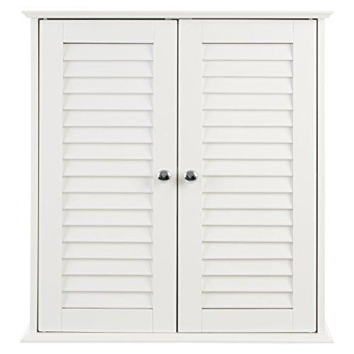 Premier Housewares - Armario de baño para la pared con 2 puertas (55 x 52 x 22 cm), color blanco