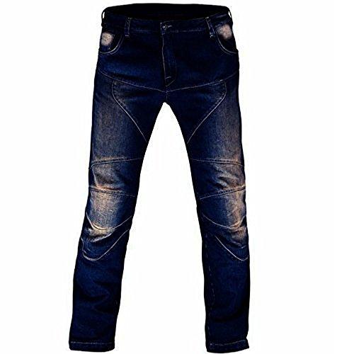 Juicy trendz uomo denim motociclo biker pantaloni con protezione fodera in s017
