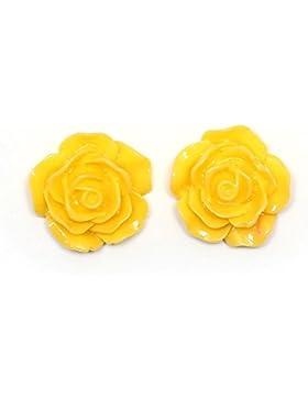 Idin Ohrclips - Gelbe Blume (groß) (ca. 18 mm across)