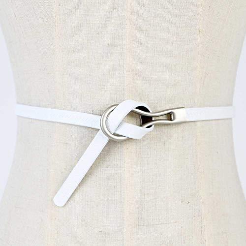 Nortongrace Effektive Womens Einstellbare Lederbänder Fashion Skinny Minimalismus Waist Strap 7 Farben(None A White) -