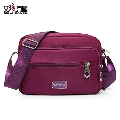 tissu Mme Messenger Bag Oxford/Nylon sac à bandoulière/Petit paquet carré/Casual sac de toile-C F
