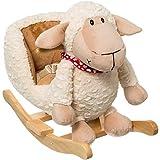 Stimo24 Schaukeltier / Baby Kind Schaukel (mit Sicherheitsgurt und Kippschutz) (Schaf)
