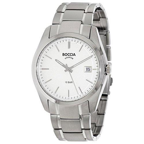 Boccia Herren Digital Quarz Uhr mit Titan Armband 3608-03