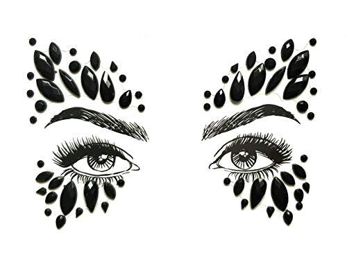 Temporärer Rhinestone Face Edelstone, Rhinestone Edelstein Tattoo, Kristall Schmuck, Party Schmuck Aufkleber, Nachtclub Masquerade Tattoo,G