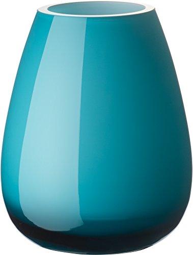 Villeroy & Boch Drop Kleine Vase Caribbean Sea, 12 cm, Glas, Blau (Blau Vase Glas)