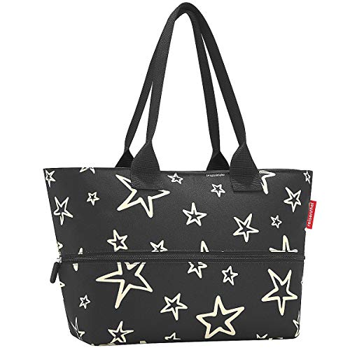 Reisenthel Shopper e1 Stars, Polyester, Schwarz, 50 x 35 cm