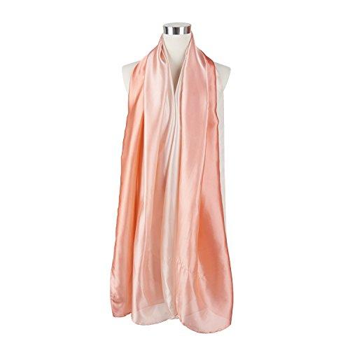Foulard Printemps Longue Elégant Couleur Graduel en Mélange de soie 190*96cm style 5