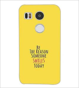 PrintDhaba Quote D-1130 Back Case Cover for LG NEXUS 5X (Multi-Coloured)