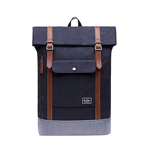 Volltonfarbe Laptop Wandern Reisen Daypack Handtaschen Schulrucksack Reiserucksack Tagesrucksack Rucksack Schultaschen Umhängetasche für Schule Reise Arbeit (SchwarzB1, One Size) ()
