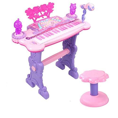 Elektronisches Klavierspielzeug, kann an Externe Geräte angeschlossen Werden 37-Tasten-Tastatur mit Mikrofon, Anfänger-Musikspielzeug for Kinder (Karaoke Kann)