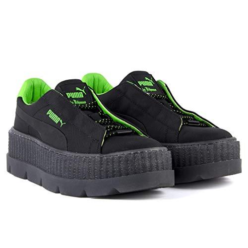 e2c0ea778f40 Puma Fenty X Rihanna Cleated Creeper Ladies Suede Black Green Yellow  Trainers (3.5 UK)