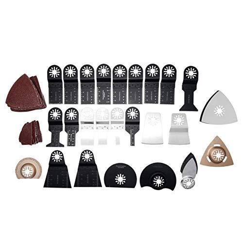 68PCS Outil multifonction accessoires oscillante mix de lames, pour scier, couper, racler, façonner, polir et enlever le coulis