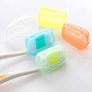 amazing-trading(TM) 5 Pcs Travel Toothbrush Head Cover Case Cap Camping Brush Cleaner Protect
