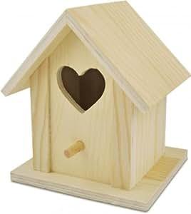 deko vogelhaus herz aus holz natur zum bemalen 10 5 x 10 x 12 8cm k che haushalt. Black Bedroom Furniture Sets. Home Design Ideas