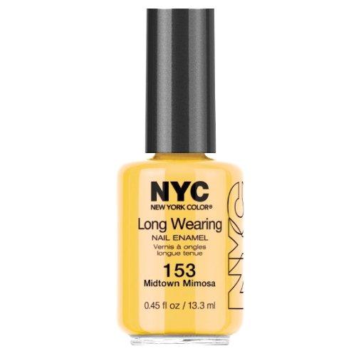 NYC Long Wearing Nail Enamel-Midtown Mimosa (Nagellack Top Coat Nyc)