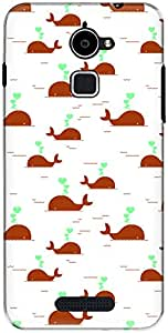 The Racoon Grip printed designer hard back mobile phone case cover for Coolpad Note 3 Lite. (Red Giant)