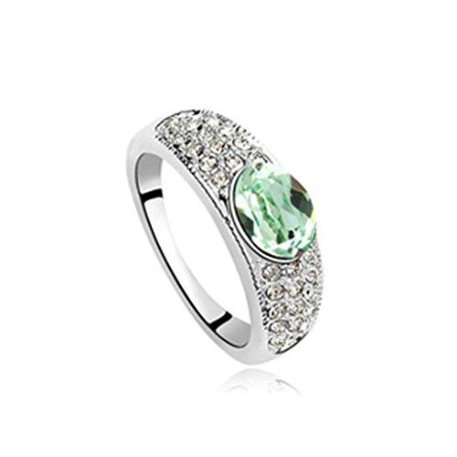 AMDXD Schmuck Damen Ring Vergoldet Oval Olive Hochzeitsring Größe 54 (17.2)