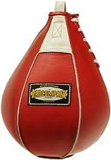Profi Leder Boxbirne medium rot / Leder Speedball im 6 Elementen Design