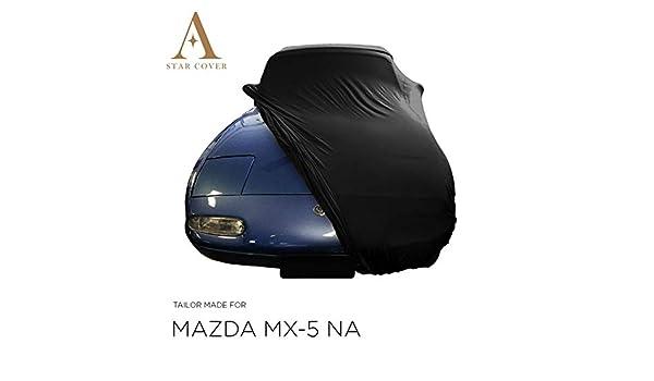 Star Cover Autoabdeckung Schwarz Mazda Mx 5 Na SchutzhÜlle Abdeckplane Schutzdecke Auto