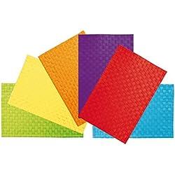Villa D'Este Home 2301587 Juego de 6 Manteles Individuales de PVC, de Colores