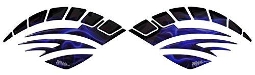 Seitentank-Pad 3D 810006 Flame Blue - universeller Tank-Schutz passend für Motorrad-Tanks