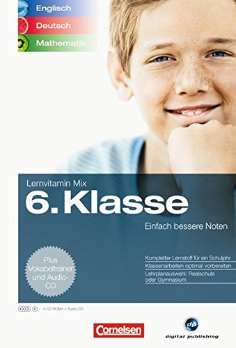 Lernvitamin Mix – Englisch/Deutsch/Mathe 6. Klasse
