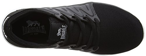 Lonsdale Peru, Chaussures de Running Compétition Femme Noir (noir/blanc)