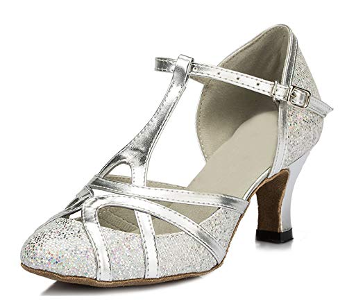 Minitoo , Damen Tanzschuhe, Silber - silber - Größe: 40