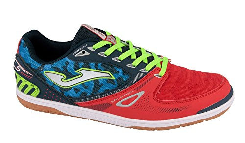 Joma Sala Max, Chaussures de Futsal Mixte Adulte Bleu (Navy-red)