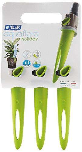 G.F. GF80286344 AQUAFLORA Holiday Tris Lime | 3er Set Pflanzen-Bewässerungssystem | glückliche Topfpflanzen durch tropfenweise Bewässerung | innen und außen | für PET-Flaschen 0,5-2,0 L | einfache Handhabung