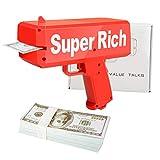 ValueTalks Geld Pistole Money Gun Geldpistole Spielzeug Geldschein Pistole Cash Gun Spritzpistole für Kinder Party