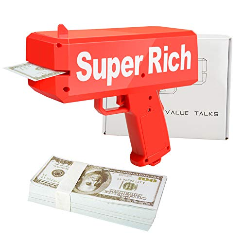 Geld Pistole Money Gun - ValueTalks Geldpistole Spielzeug Geldschein Pistole Cash Gun Spritzpistole für Kinder Party (Geld)