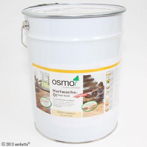 OSMO Hartwachs-Öl Original, 3032 farblos seidenmatt - 10 Liter