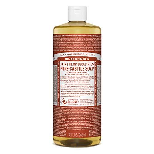 Dr. Bronner's Magic Soaps, Savon pur de Castille-, 18-in-1 chanvre d'Eucalyptus, 32 fl oz (944 ml)