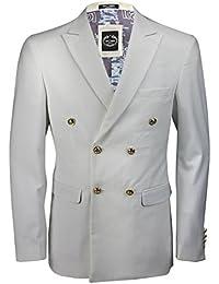 Amazon.it  Bianco - Giacche da abito   Abiti e giacche  Abbigliamento c081e84ab1b