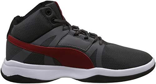 a3d9052ca16 Puma Men s Black-Iron Gate-Red Dahlia White Sneakers-8 UK India (42 ...