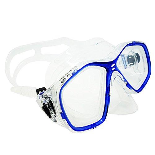 Palantic azul buceo/snorkeling Jr, máscaras de buceo con RX lentes graduadas, color , tamaño -3.0