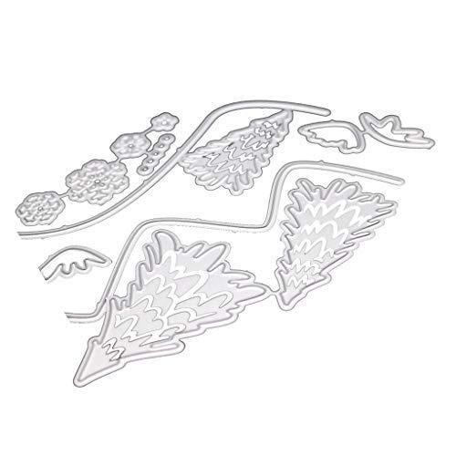 Luccase Weihnachten Stanzschablone 100x150mm Silber Kohlenstoffstahl Weihnachten Hirsch Metall Dies Schnitte Kartenherstellung Schablone DIY Scrapbooking Card (C)