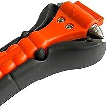 Melchioni 380004021 Martillo Picador de Cristal y tagliacintura para situazioni de Emergencia sellador de Soporte