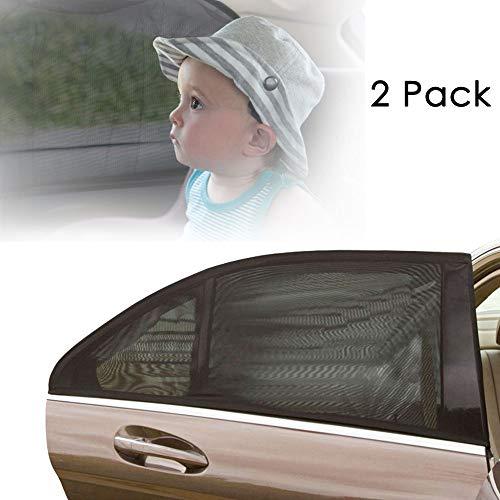 Aodoor (2er-Pack) Sonnenschutz Auto für Kinder, Hunde und Babys , Sonnenblende Autos blockt mehr als 97{78881077d8615a7f7ba39a33a59d1f65eded8f772cd2011570931277174ae593} der schädlichen UV-Strahlung, Seitenscheibe Autosonnenschutz passt universell