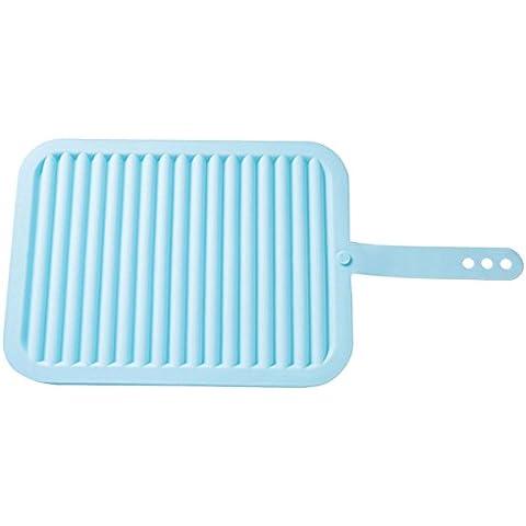 DELEY Silicone presine Cucina Stuoia di Tabella Ciotola Pad in Lavatrice Isolamento termico Antiscivolo Sottobicchieri Blu
