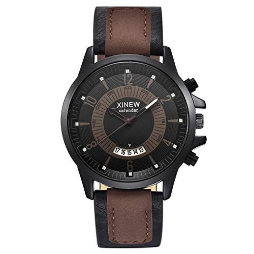 Räumung Uhr FGHYH Männer Armbanduhr Vintage Quartz Watch Men Watches Top Brand Luxury Male Clock Business Mens Wrist Watch Armbanduhr Uhr(Kaffee)