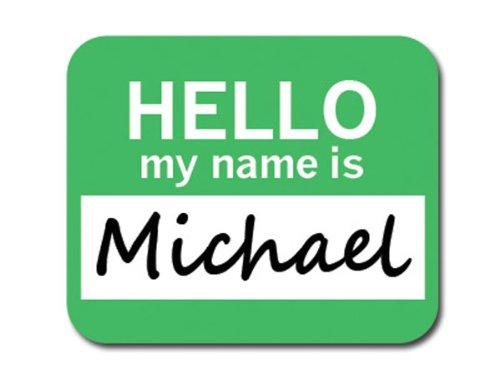 michael-bonjour-mon-nom-est-tapis-de-souris-tapis-de-souris