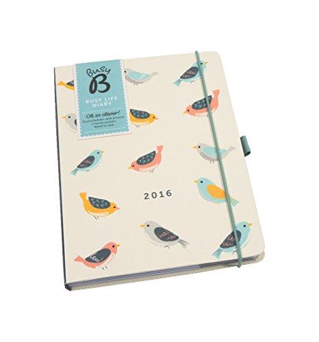 Busy B Terminkalender 2016 für Vielbeschäftigte Vögel mit dem einzigartigen Layout können Sie auf einer Doppelseite jede Woche zwei Leben unter einen Hut bringen, bunt