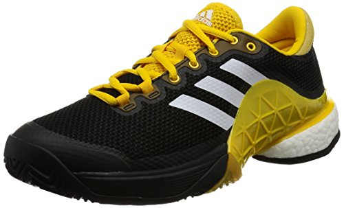 adidas Herren Barricade 2017 Boost Tennisschuhe Schwarz (Core Black/Footwear White/Eqt Yellow)