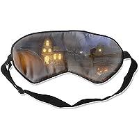 Komfortable Schlafmasken Kürbis Halloween Haus Schlafmaske für Reisen, Mittagsschlaf oder Mediation oder Yoga preisvergleich bei billige-tabletten.eu