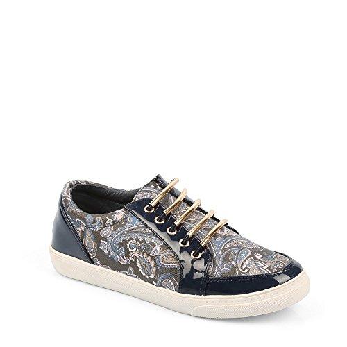 Ideal Shoes Herren-Sneaker Halbschuhe Milica Blau - Marineblau