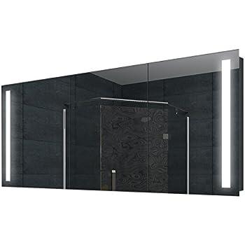 Led Badezimmer Spiegelschrank Bad Wand Schrank Alu Rahmen 160x68cm Sk16068