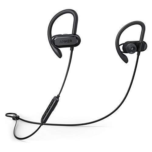 Foto Auricolari sportivi Soundcore Spirit X, Cuffie wireless da Anker, con Bluetooth 5.0, fino a 12 ore di Autonomia della Batteria, Tecnologia IPX7 SweatGuard, Secure Fit per Sport e Allenamenti